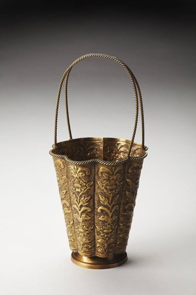 Hors D Oeuvres Clara Traditional Gold Brass Decorative Basket bsf-3262016