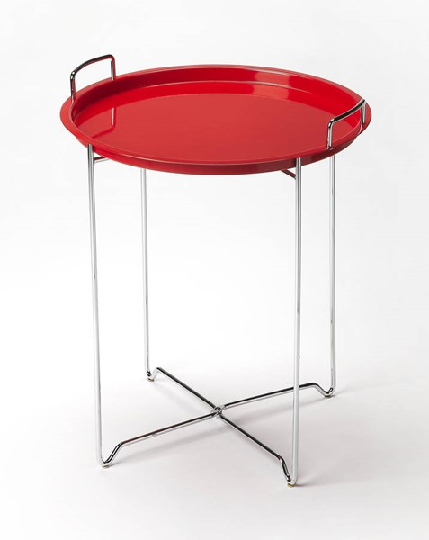 Butler Loft Midtown Modern Red Steel Tray Table BSF-3293293