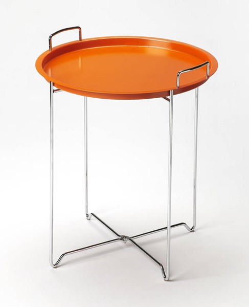 Butler Loft Midtown Modern Orange Steel Tray Table BSF-3293294