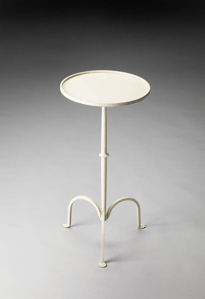 Industrial Chic Founders Transitional White Iron Pedestal Table BSF-3316025