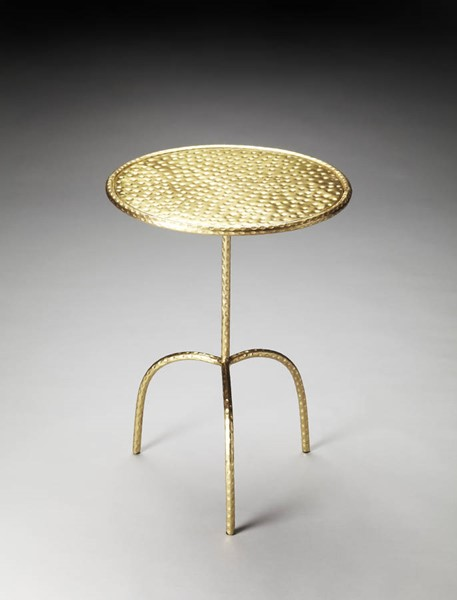 Industrial Chic Founders Transitional Gold Iron Pedestal Table BSF-3324025