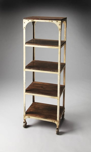 Industrial Chic Blaine Transitional Iron Solid Wood Etagere bsf-3386290