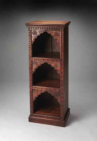 Artifacts Mihrab Traditional Medium Brown Solid Wood Bookcase bsf-3388290