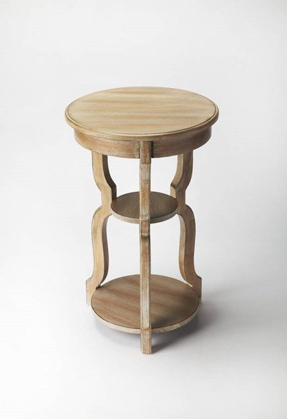 Masterpiece Sloane Gray Driftwood Hardwood MDF Tiered Accent Table BSF-3401247
