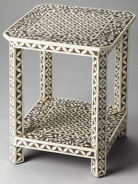Butler Specialty Bone Inlay Light Brown Side Table BSF-3449326