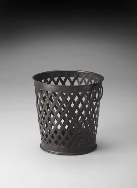 Hors D Oeuvres Transitional Black Iron Storage Basket BSF-3452016