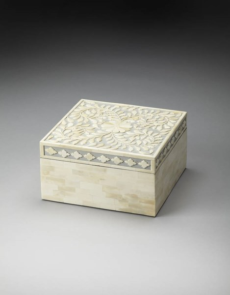 Hors D Oeuvres Traditional Gray Bone Inlay Storage Box BSF-3471016