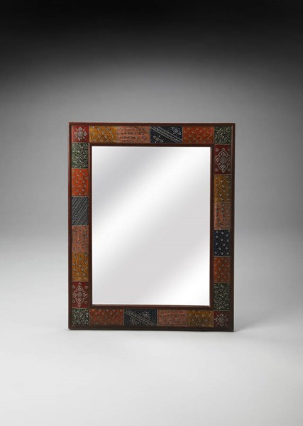 Artifacts Traditional Assorted Hand Painted Wall Mirror BSF-3486290
