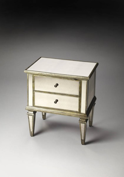Masterpiece Celeste Traditional Silver MDF Accent Chest bsf-3510146
