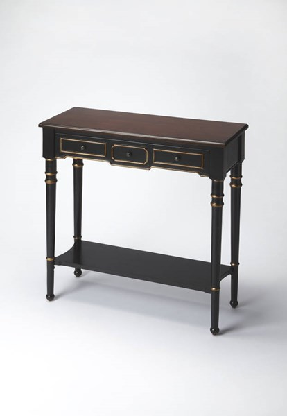 Artists Originals Traditional Cafe Noir Rubberwood MDF Console Table bsf-3515104