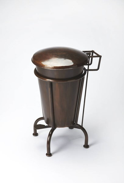 Industrial Chic Transitional Copper Iron Dust Bin BSF-3547330