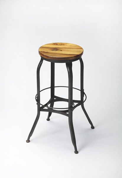 Industrial Chic Transitional Iron Solid Wood Bar Stool bsf-3548330