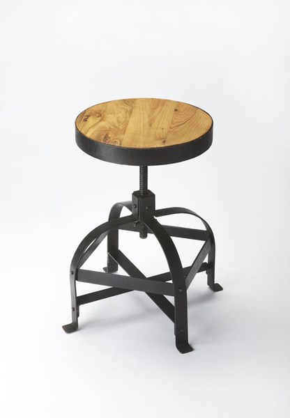 Industrial Chic Transitional Iron Solid Wood Hand Crafted Bar Stool bsf-3550330