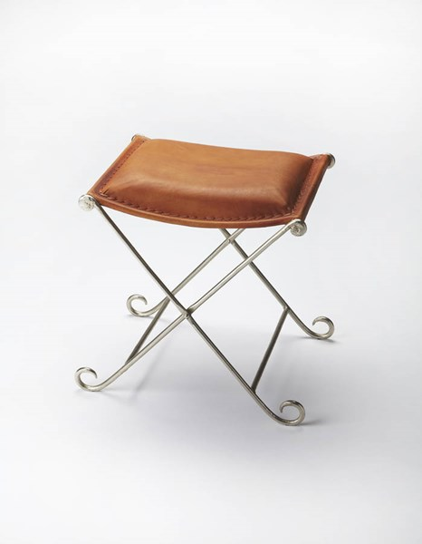 Industrial Chic Transitional Iron Leather Stool BSF-3552330