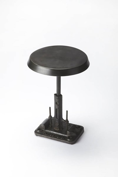 Industrial Chic Transitional Black Iron Round Top Accent Table BSF-3553330