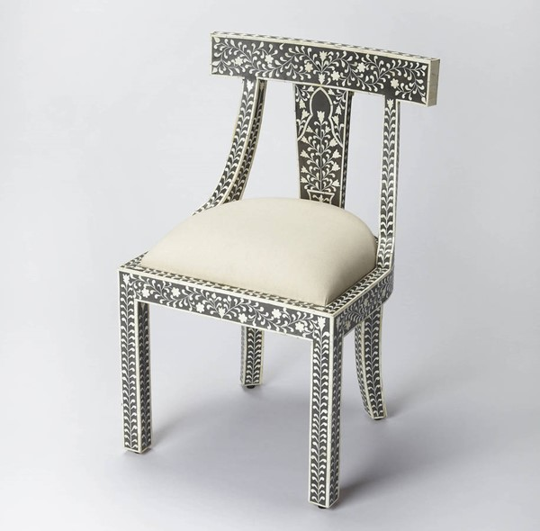 Butler Specialty Bone Inlay Black Accent Chair BSF-3557318