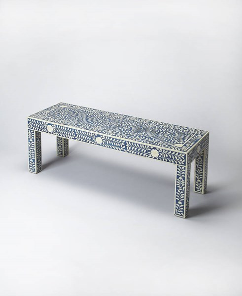 Butler Specialty Bone Inlay Blue Bench BSF-3558319