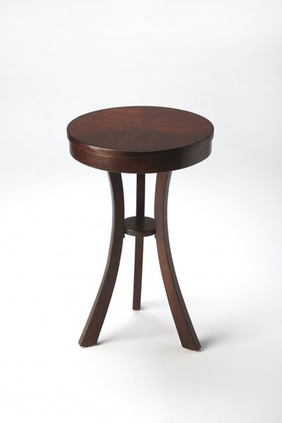 Plantation Cherry Behrens Transitional Brown Hardwood MDF Accent Table BSF-3608024
