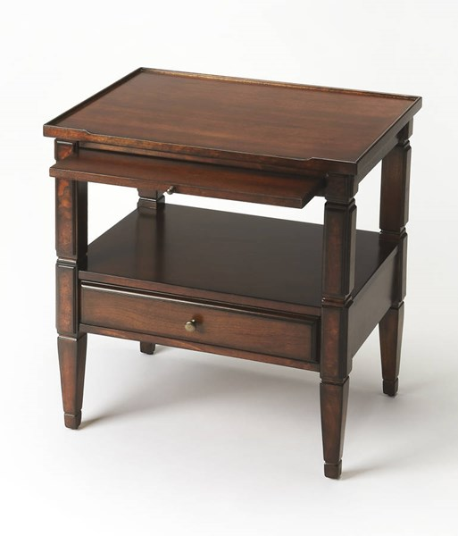 Plantation Cherry Winston Traditional Brown Hardwood MDF Accent Table bsf-3619024