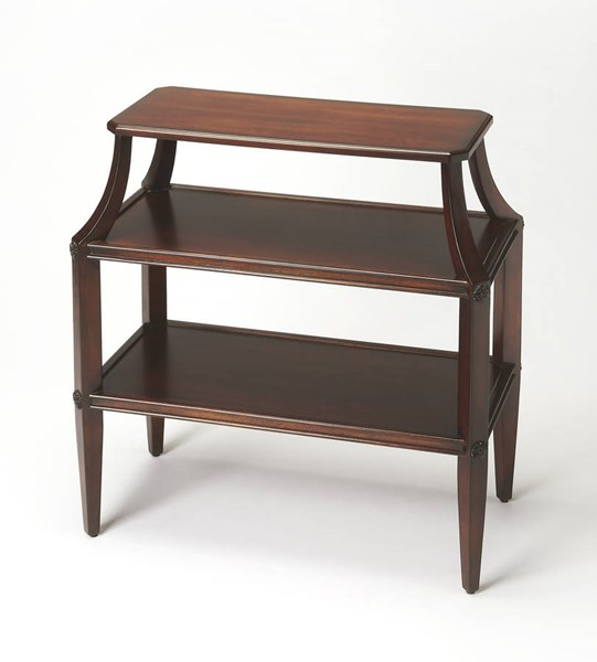 Plantation Cherry Appleton Brown Hardwood MDF Tiered Console Table BSF-3626024