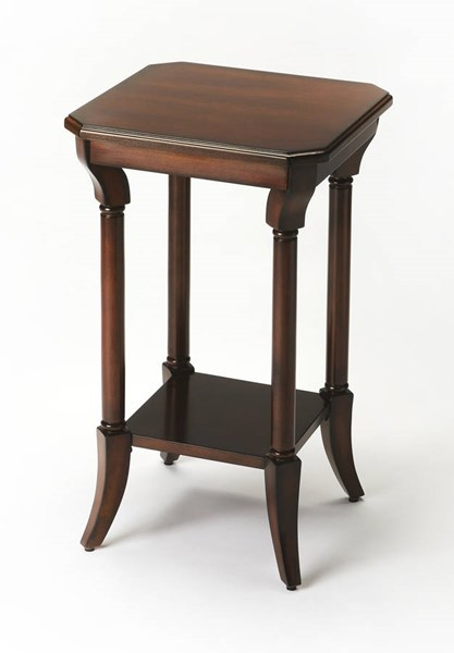 Plantation Cherry Darla Traditional Brown Rubberwood MDF Accent Table BSF-3628024