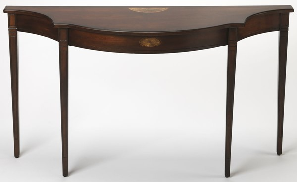 Butler Specialty Plantation Cherry Brown Half Round Console Table BSF-3757024
