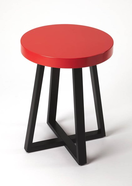Butler Specialty Loft Red Black End Table BSF-3794140