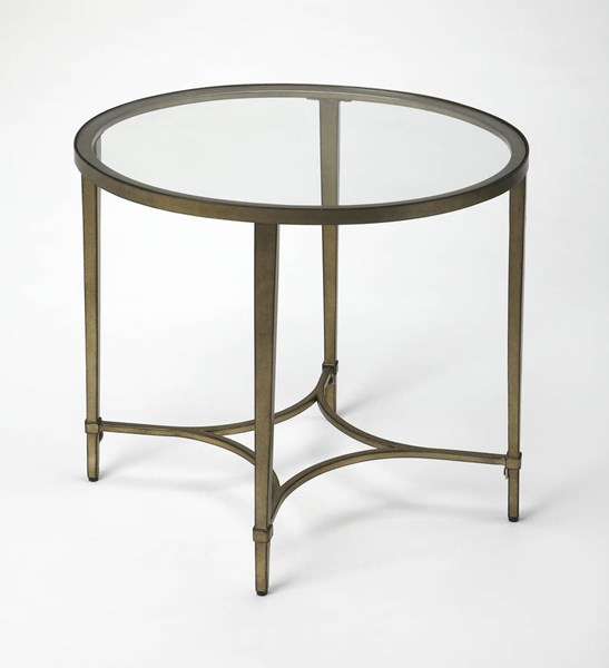 Butler Specialty Loft Gold Oval End Table BSF-3801355