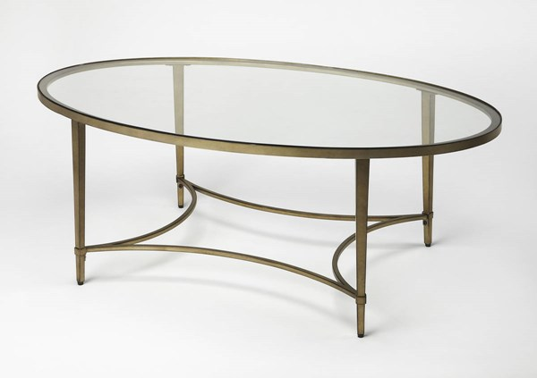 Butler Specialty Loft Gold Oval Cocktail Table BSF-3802355