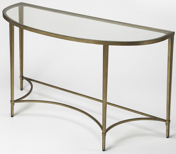 Butler Specialty Loft Gold Demilune Console Table BSF-3803355