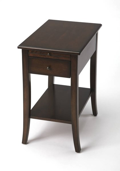 Butler Specialty Plantation Cherry Dark Brown Wood End Table BSF-3808024