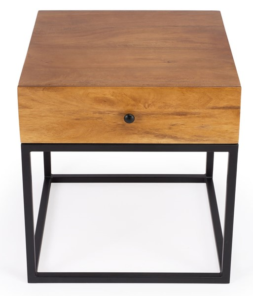 Butler Specialty Industrial Chic Brixton Light Brown End Table BSF-3898330