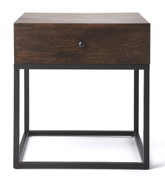 Butler Specialty Industrial Chic Brixton Dark Brown End Table BSF-3898403