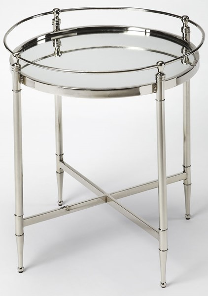 Butler Specialty Loft Silver Round End Table BSF-3939140