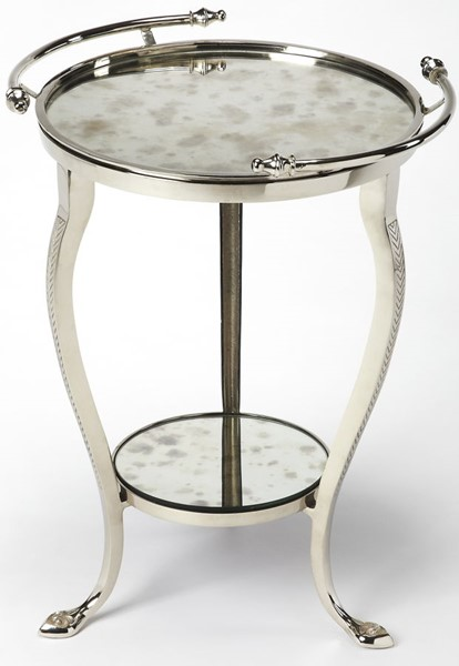 Butler Specialty Modern Expressions Glass Top End Table BSF-3947260