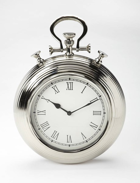 Butler Specialty Hors Doeuvres Silver Wall Clock BSF-3969365