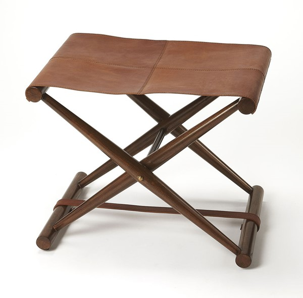Butler Specialty Butler Loft Sutton Medium Brown Folding Stool BSF-3989140