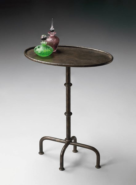 Industrial Chic Kira Transitional Silver Metal Pedestal Table BSF-4002025