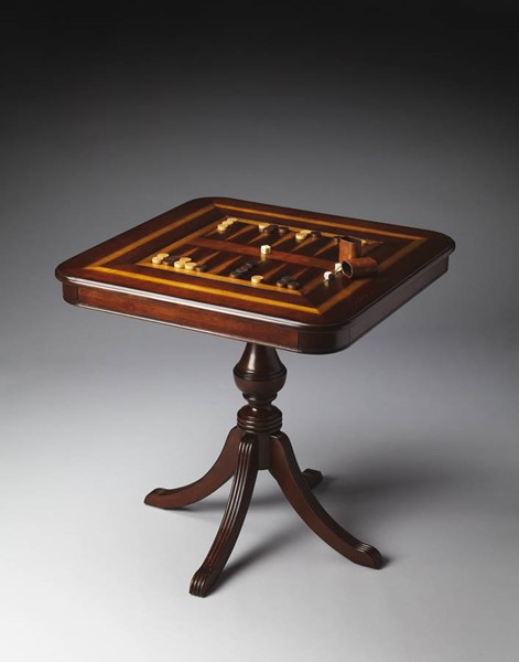 Plantation Cherry Morphy Traditional Dark Brown Game Table BSF-4112024