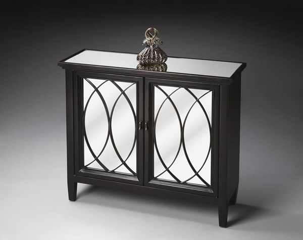 Butler Loft Transitional Black Wood Two Doors Console Cabinet bsf-4113136