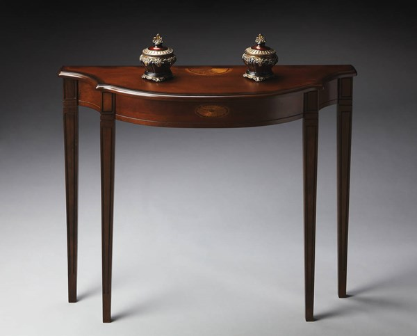 Plantation Cherry Chester Traditional Dark Brown Console Table BSF-4116024