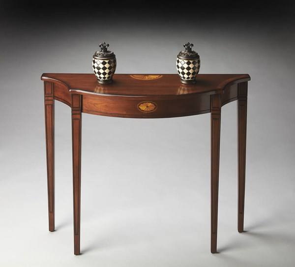 Masterpiece Chester Traditional Medium Brown PU Console Table BSF-4116101
