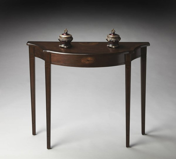 Masterpiece Chester Traditional Dark Brown PU Console Table BSF-4116282