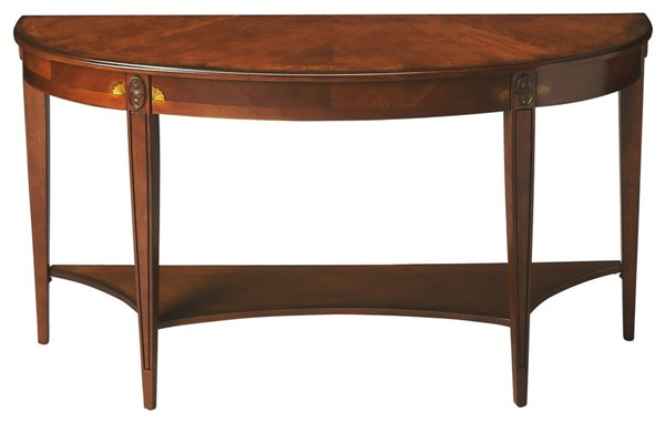 Butler Specialty Masterpiece Astor Brown Demilune Console Table BSF-4146101