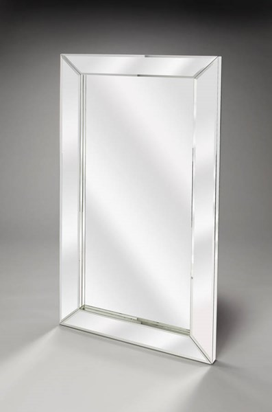 Modern Expressions Emerson Mirrored Glass MDF Wall Mirror BSF-4214146