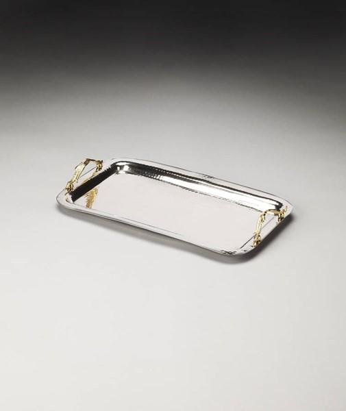 Hors D Oeuvres Marten Traditional Silver Stainless Steel Serving Tray BSF-4220016