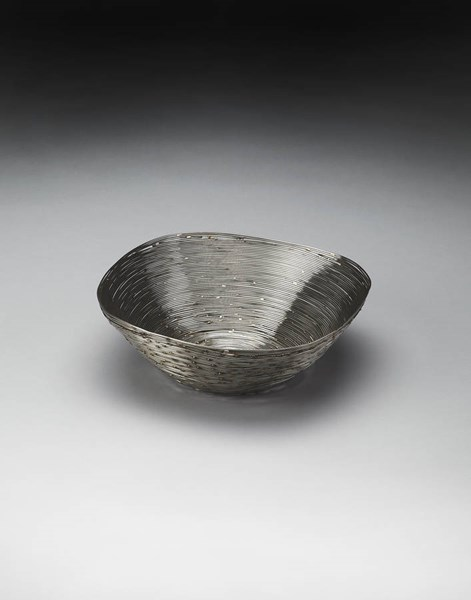 Hors D Oeuvres Modern Gray Stainless Steel Decorative Bowl BSF-4253016