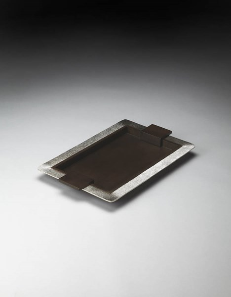 Hors D Oeuvres Modern Aluminum Solid Wood Serving Tray bsf-4254016