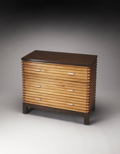 Butler Loft Addison Transitional Maple Solids Metal Console Chest bsf-4264140