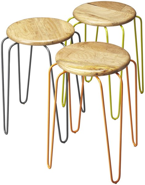 Butler Specialty Industrial Chic Easton Stackable Stools BSF-4270330